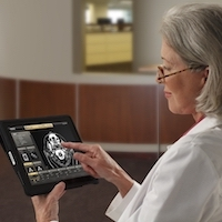Doctor Accessing Patient PACS Imagery via Nuvodia Share